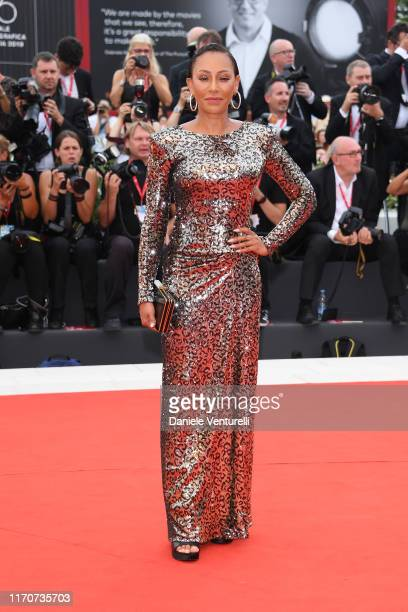Melanie Brown walks the red carpet ahead of the Opening Ceremony and the La Vérité screening during the 76th Venice Film Festival at Sala Grande on...