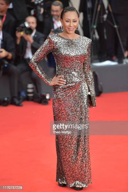 "Melanie Brown walks the red carpet ahead of the Opening Ceremony and the ""La Vérité"" screening during the 76th Venice Film Festival at Sala Grande on..."