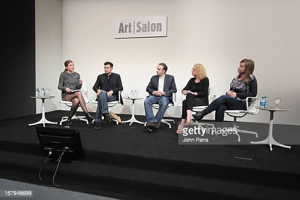 Melanie Buhler Curator Lunch Bytes artist Miltos Manetas Sebastian Cwilich President and COO Artsy Director House of Electronic Arts and Lindsay...