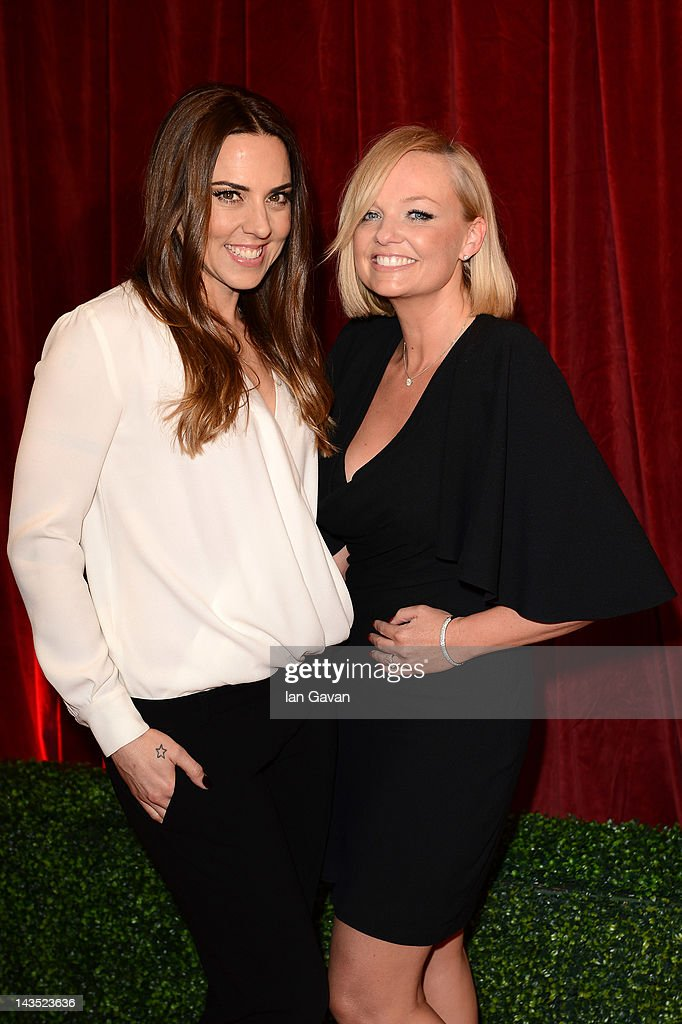 Melanie C and Emma Bunton attend The 2012 British Soap Awards at ITV Studios on April 28, 2012 in London, England.