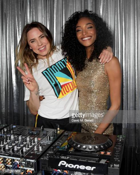 Melanie C and Jourdan Dunn attend a party hosted by Jourdan Dunn to celebrate Maybelline being named the NO.1 Mascara brand in the UK on April 30,...
