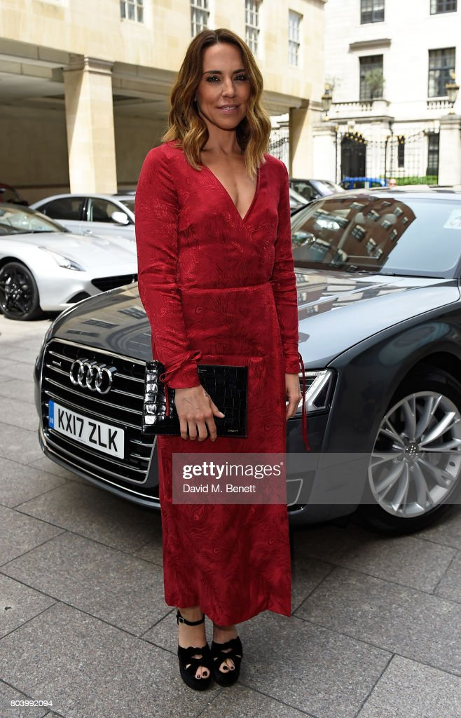 Melanie C arrives in an Audi at the Nordoff Robbins at Grosvenor House Hotel on June 30, 2017 in London, United Kingdom.
