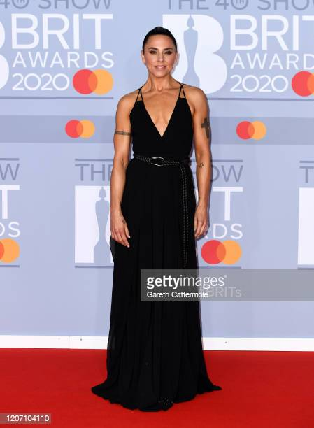 Melanie C attends The BRIT Awards 2020 at The O2 Arena on February 18 2020 in London England