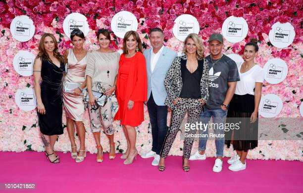 Melanie C., Gerit Kling, Anja Kling, Linda Gray, Ella Endlich, Pietro Lombardi and Clea Lacy Juhn attend the Late Night Shopping at Designer Outlet...