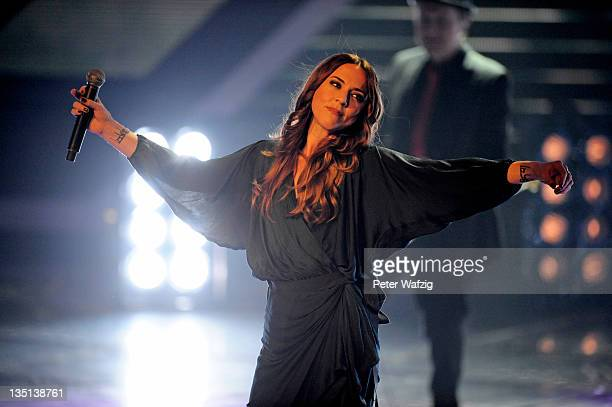 Melanie C performs as special guest during the 'The X Factor Live' TVShow Final on December 06 2011 in Cologne Germany