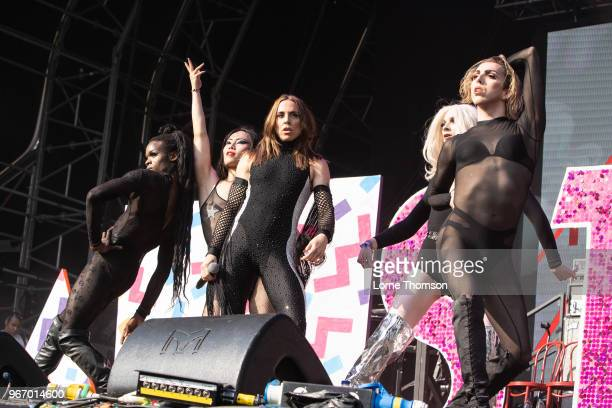Melanie C performs at Mighty Hoopla at Brockwell Park on June 3 2018 in London England