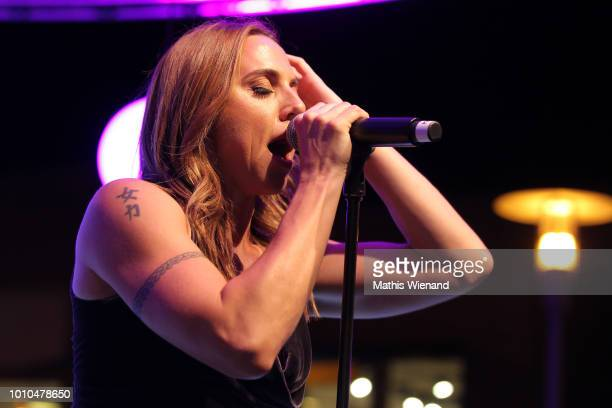 Melanie C performs at the Late Night Shopping at Designer Outlet Soltau on August 3 2018 in Soltau Germany