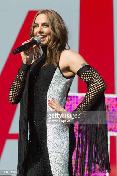 Melanie C performs on stage at Mighty Hoopla festival at Brockwell Park on June 3, 2018 in London, England.
