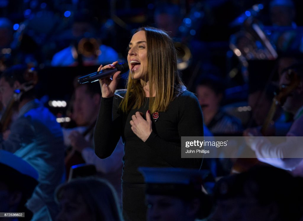 Melanie C preforms during a rehearsal for her performance at The Royal British Legion's Festival of Remembrance at Royal Albert Hall on November 10, 2017 in London, England. The Festival is being broadcast on Saturday 11th November at 9pm on BBC One & BBC One HD.