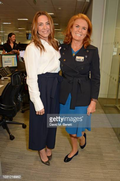 Melanie C representing Future Dreams and Sarah Ferguson Duchess of York representing Street Child attend BGC Charity Day at One Churchill Place on...