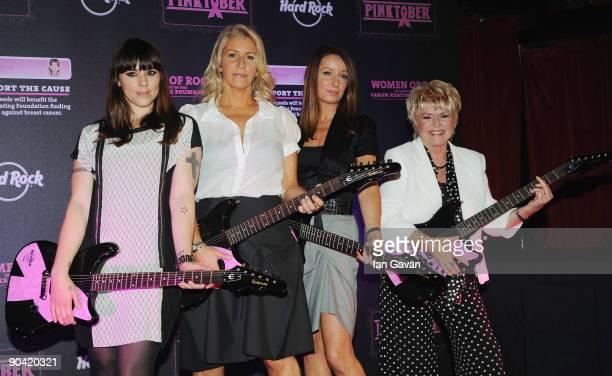 Melanie C Sara Dallin and Keren Woodward from Bananarama and Gloria Hunniford pose as 'Pinktober' a one off concert in aid of The Caron Keating...