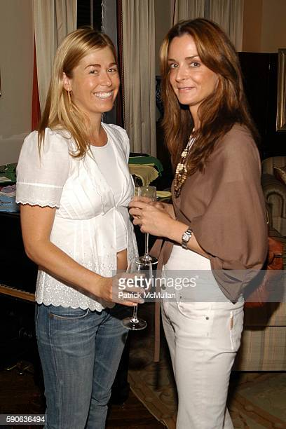 Melanie Charlton and Annie Churchill attend Rock Culture Clothing Launch by Andrea Victor at Apartment of Carol Saper on July 25 2005 in New York City