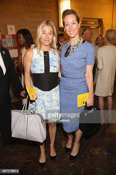 Melanie Charlton and Janet Gorgone attend the Museum of the City of New York Spring Symposium and Luncheon at New York Academy of Medicine on June 1...