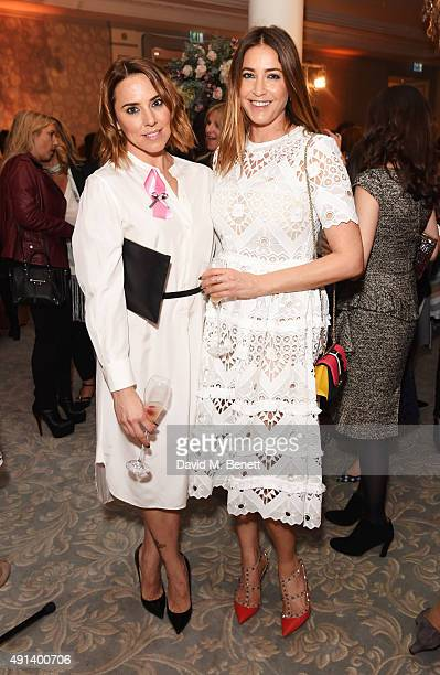 Melanie Chisholm aka Mel C and Lisa Snowdon attend the Future Dreams Autumn Lunch at The Savoy Hotel on October 5 2015 in London England
