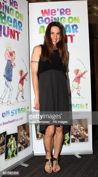 Melanie Chisholm attending a special performance show of We're Going On A Bear Hunt at the Lyric Theatre