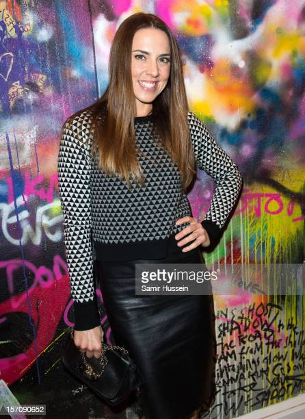 Melanie Chisholm attends the private view of Coldplay Paris And Kids Company an exhibition showcasing work from the band's Mylo Xyloto album at Proud...