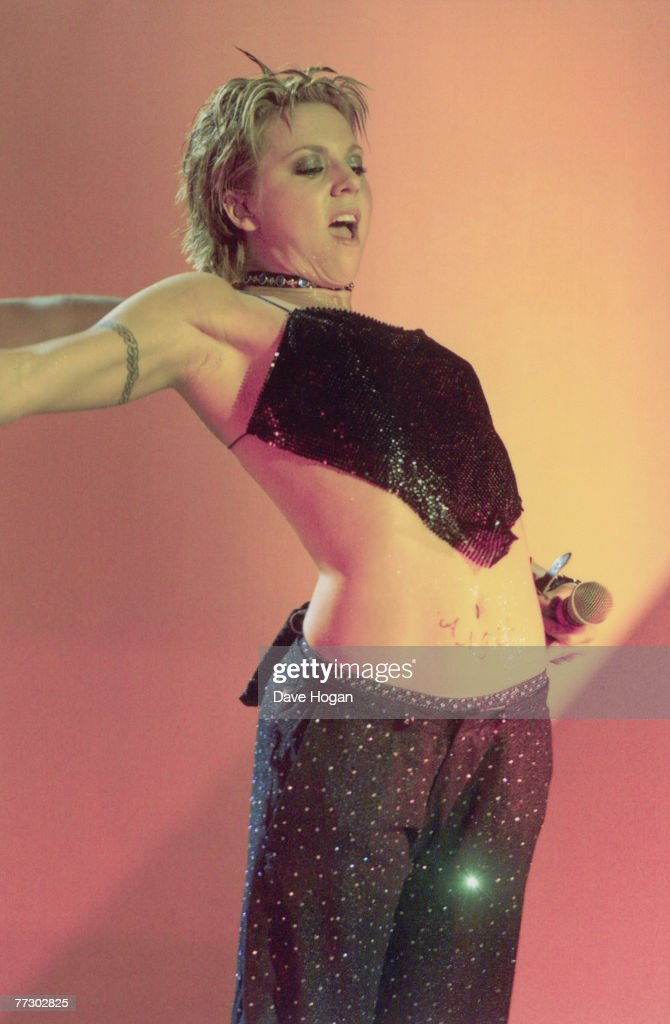 Melanie Chisholm (aka Mel C or Sporty Spice) of British pop group the Spice Girls performs at the Brit Awards, Earl's Court, 3rd March 2000.