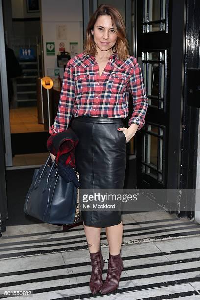 Melanie Chisholm seen at BBC Radio 2 on December 16 2015 in London England