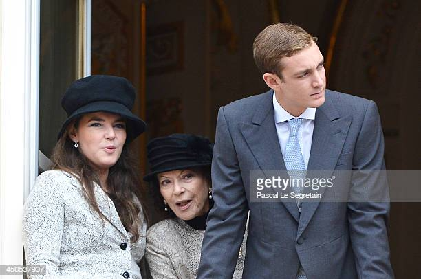 Melanie de Massy Boroness ElisabethAnne de Massy and Pierre Casiraghi attend the National Day Parade as part of Monaco National Day Celebrations at...
