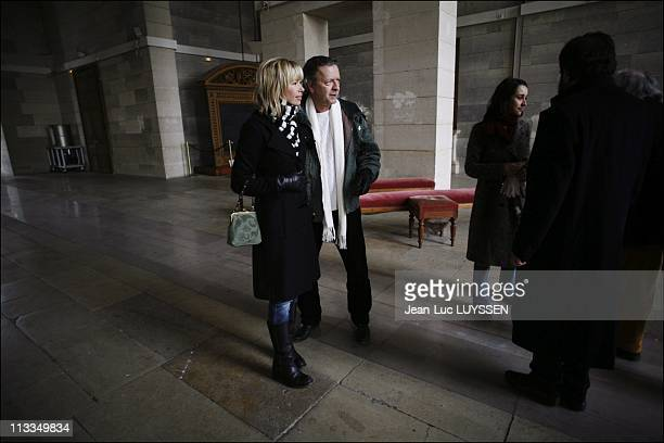 Melanie Delloye Betancourt On The Launch Day Of The Manifest For The Liberation Of Ingrid Betancourt In Paris, France On January 23, 2007 - Renaud,...