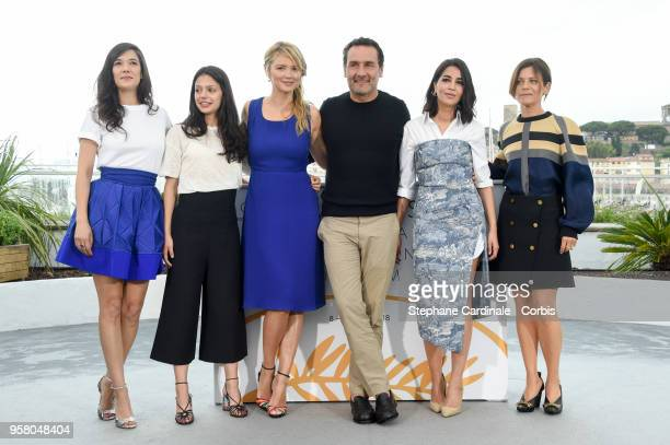 Melanie Doutey Noee Abita Virginie Efira Gilles Lellouche Leila Bekhti and Marina Fois attend the Sink Or Swim Photocall during the 71st annual...