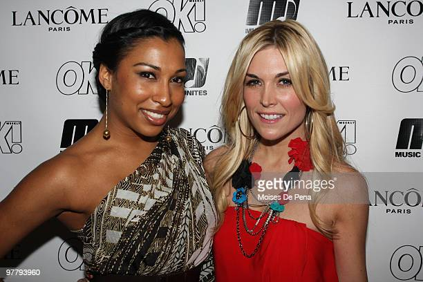 Melanie Fiona and Tinsley Mortimer attend Music Unites at the Cooper Square Penthouse on March 16, 2010 in New York City.