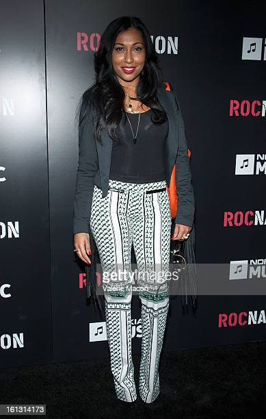Melanie Fiona attends Roc Nation PreGRAMMY Brunch at Soho House on February 9 2013 in West Hollywood California
