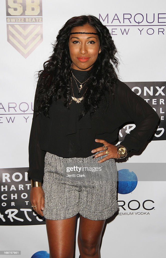 Melanie Fiona attends the Bronx Charter School for the Arts 2013 art auction at Marquee on May 14, 2013 in New York City.