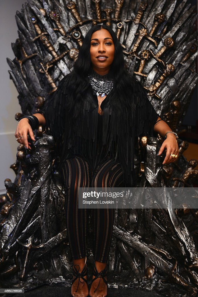 Melanie Fiona attends the HBO Catch The Throne: The Mixtape Vol. II Listening Party on March 12, 2015 in New York City.