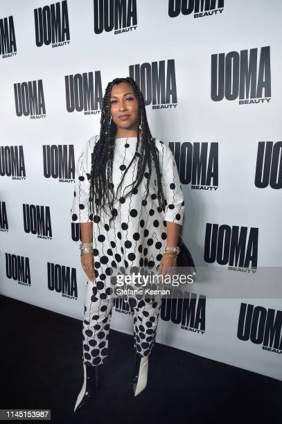 Melanie Fiona attends UOMA Beauty Launch Event at NeueHouse Hollywood on April 25 2019 in Los Angeles California