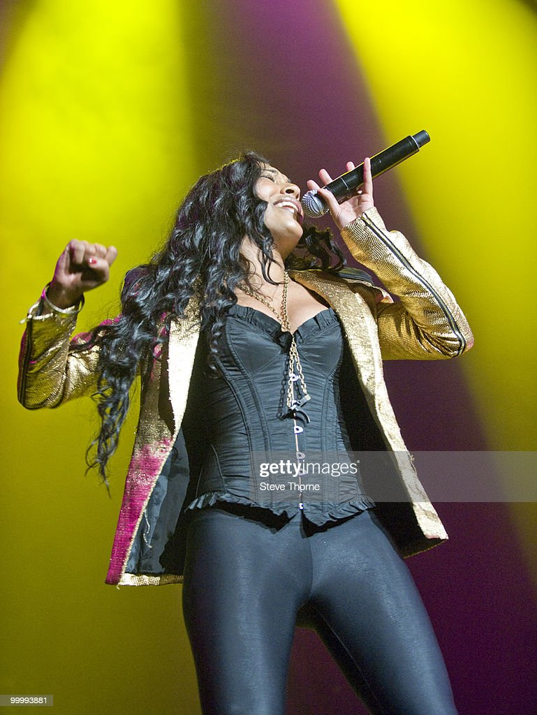 Melanie Fiona performs at the NIA Arena on May 19, 2010 in Birmingham, England.