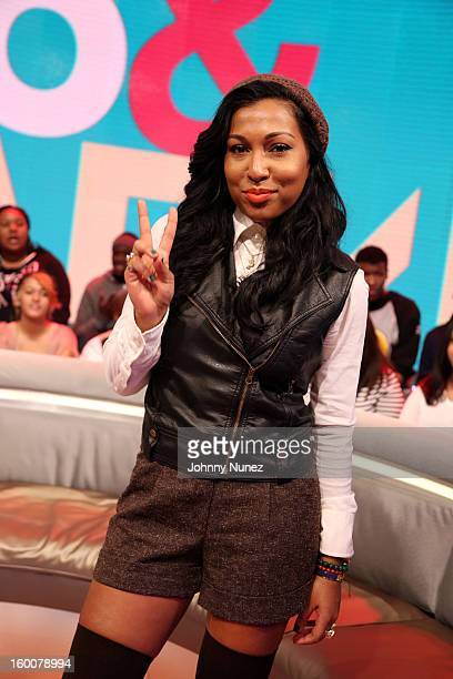 Melanie Fiona visits BET's '106 Park' at 106 Park Studio on January 24 in New York City