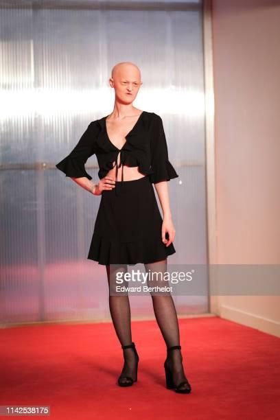 Melanie Gaydos attends the Tous Les Dieux Du Ciel Premiere At Cinema Georges Melies on April 13 2019 in Montreuil France
