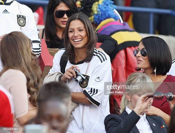 Melanie girlfriend of Piotr Trochowski Silvia Meichel girlfriend of Mario Gomez and Anna Maria Lagerblom girlfriend of Mesut Oezil attend the 2010...