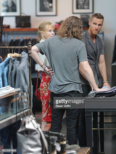 Melanie Griffith and Alexander Bauer are seen on July 23 2014 in Los Angeles California