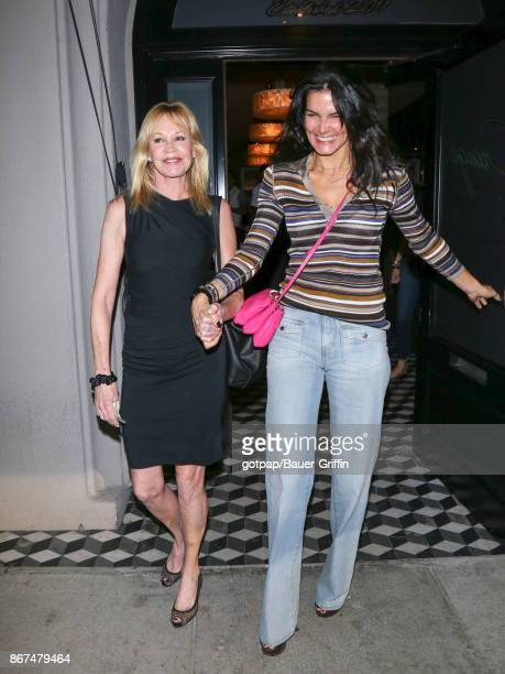 Melanie Griffith and Angie Harmon are seen on October 27 2017 in Los Angeles California
