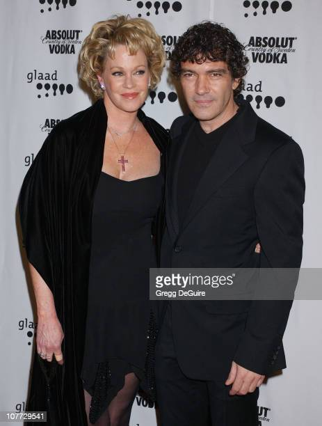 Melanie Griffith and Antonio Banderas during The 15th GLAAD Media Awards - Los Angeles - Arrivals at Kodak Theatre in Hollywood, California, United...