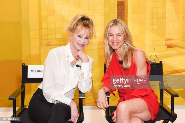 Melanie Griffith and Crystal Lourd attend VIP Conversation for Women's Brain Health Initiative Hosted by Sharon Stone at Gagosian Gallery on October...