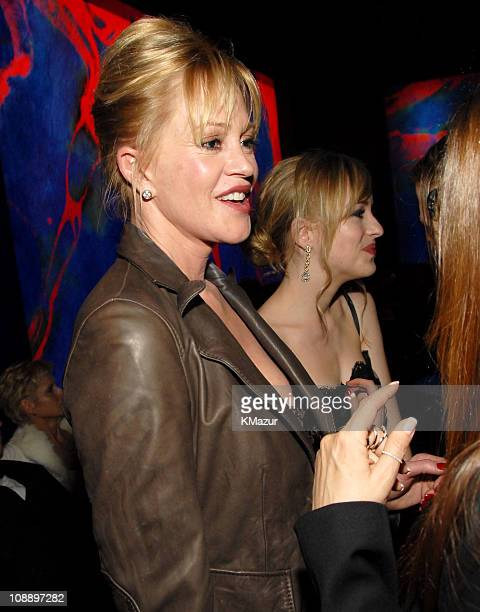 Melanie Griffith and Dakota Johnson during InStyle Warner Bros 2006 Golden Globes After Party Inside at Beverly Hilton in Beverly Hills California...