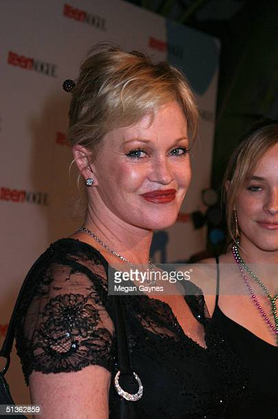 Melanie Griffith and daughter Dakota Johnson arrive at the Teen Vogue Young Hollywood Party at Chateau Marmont on September 23 2004 in Hollywood...