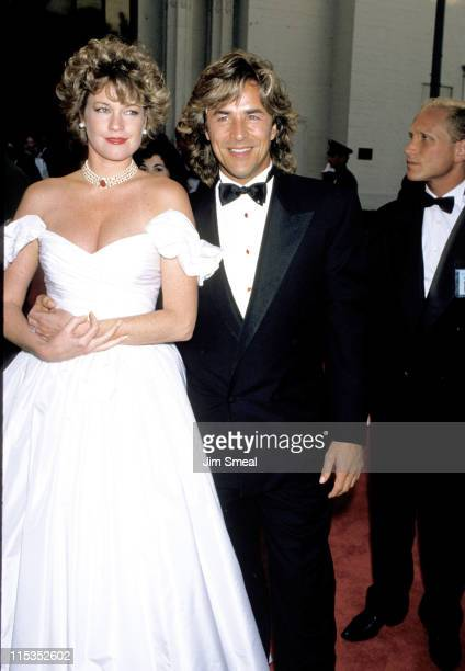 Melanie Griffith and Don Johnson during 61st Annual Academy Awards Arrivals at Shrine Auditorium in Los Angeles California United States
