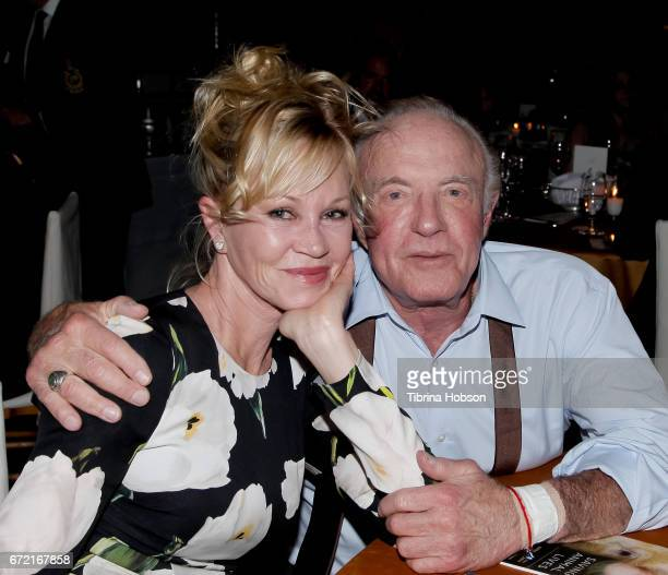 Melanie Griffith and James Caan attend the Humane Society's annual 'To The Rescue' Gala on April 22 2017 in Los Angeles California
