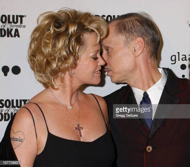 Melanie Griffith and John Waters during The 15th GLAAD Media Awards - Los Angeles - Arrivals at Kodak Theatre in Hollywood, California, United States.