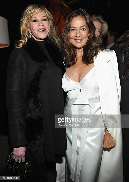 Melanie Griffith and Kelly Klein attend Photographs by Kelly Klein Hosted by Barry Diller and Jason Weinberg at BOA Steakhouse on January 8 2016 in...