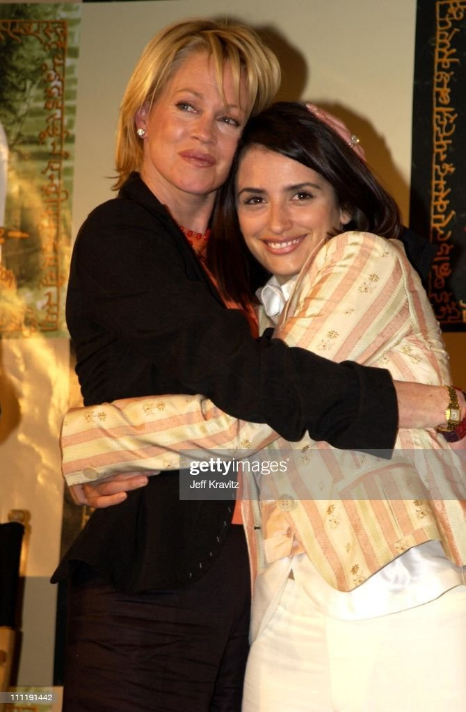 Melanie Griffith and Penelope Cruz during Sabera Foundation U.S. Launch at Creative Artist's Agency in Beverly Hills, California, United States.