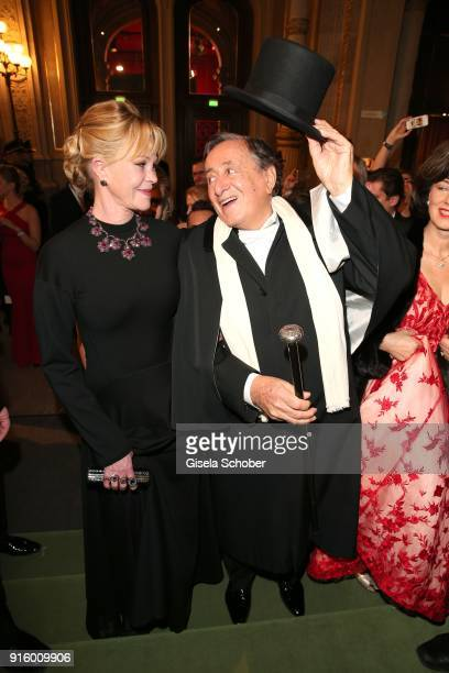 Melanie Griffith and Richard Lugner during the Opera Ball Vienna at Vienna State Opera on February 8 2018 in Vienna Austria