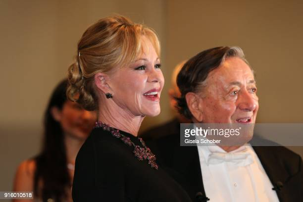 Melanie Griffith and Richard Lugner during the reception of Opera Ball Vienna at Grand Hotel on February 8 2018 in Vienna Austria