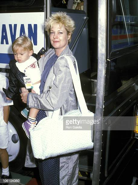 Melanie Griffith and Son Alexander Bauer during 'Vote Yes on 65' Clean Water Bill Benefit at Lorimar Telepictures Studios in Los Angeles California...