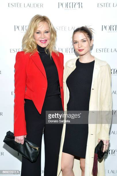 Melanie Griffith and Stella Banderas at PORTER Hosts Incredible Women Gala In Association With Estee Lauder at NeueHouse Los Angeles on November 1...