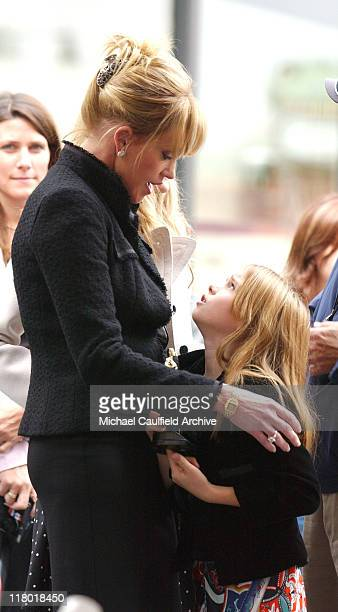 Melanie Griffith and Stella Banderas during Antonio Banderas Honored with a Star on the Hollywood Walk of Fame for His Achievements in Film in...